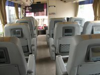 interior of NICE bus